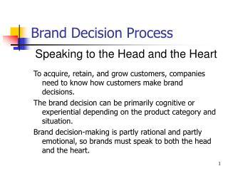 Brand Decision Process