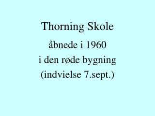 Thorning Skole