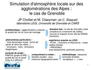 Simulation d'atmosphère locale sur des agglomérations des Alpes :  le cas de Grenoble
