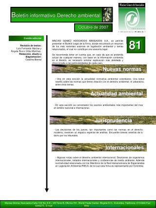 B oletín informativo Derecho ambiental