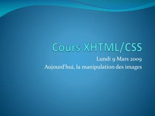 Cours XHTML/CSS