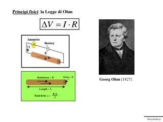 Principi fisici :  la Legge di Ohm