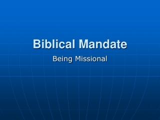 Seven Principles of Parish Life