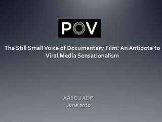 The Still Small Voice of Documentary Film: An Antidote to Viral Media Sensationalism