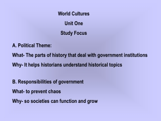 PARTS OF AN ECONOMIC SYSTEM