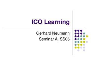 ICO Learning