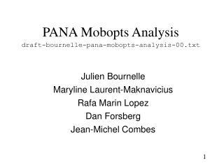 PANA Mobopts Analysis draft-bournelle-pana-mobopts-analysis-00.txt