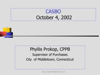 CASBO October 4, 2002