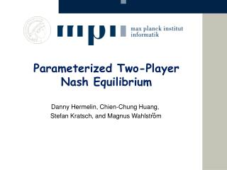 Parameterized Two-Player Nash Equilibrium