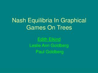 Nash Equilibria In Graphical Games On Trees