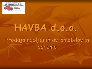 HAVBA d.o.o.