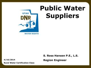 Public Water Suppliers