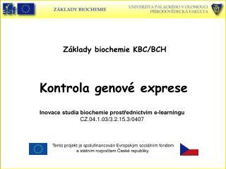 Základy biochemie KBC/BCH