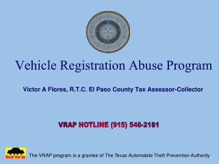 Vehicle Registration Abuse Program