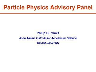 Particle Physics Advisory Panel