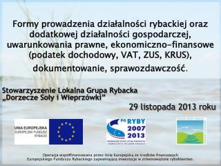 Obowi?zki sprawozdawcze  w gospodarstwach rybackich