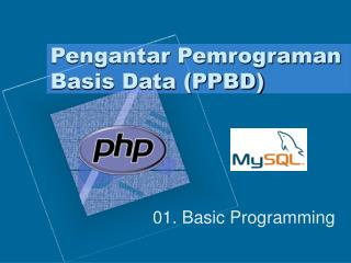 Pengantar Pemrograman Basis Data (PPBD)