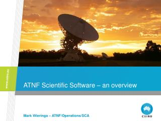 ATNF Scientific Software � an overview