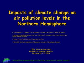 Impacts of climate change on air pollution levels in the Northern Hemisphere
