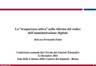 """La """"trasparenza attiva"""" nella riforma del codice dell'amministrazione digitale"""