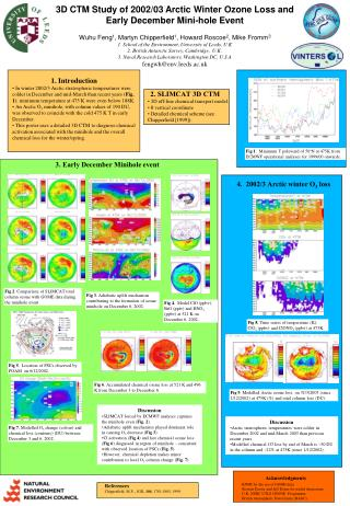 3D CTM Study of 2002/03 Arctic Winter Ozone Loss and Early December Mini-hole Event