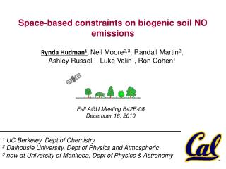 Space-based constraints on biogenic soil NO emissions