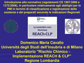 Domenico Maria Cavallo Università degli Studi dell'Insubria e di Milano