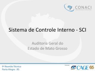 Sistema de Controle Interno - SCI