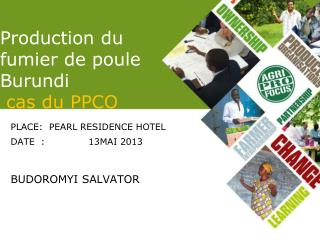 Production du fumier de poule Burundi cas du PPCO
