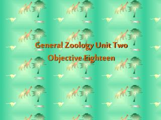 General Zoology Unit Two   Objective Eighteen