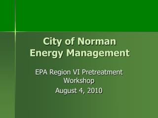City of Norman Energy Management