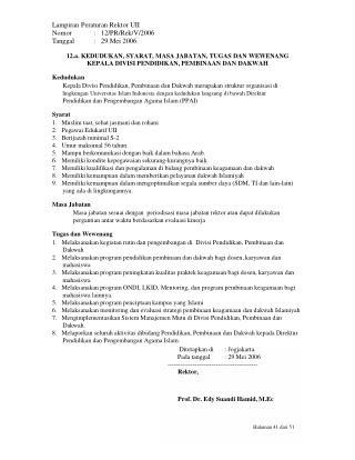Lampiran Peraturan Rektor UII