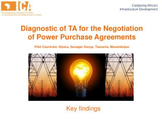 Diagnostic of TA for the Negotiation of Power Purchase Agreements