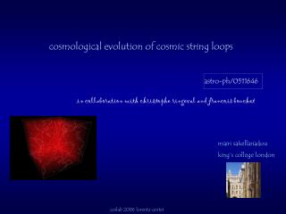 cosmological evolution of cosmic string loops