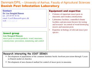Denmark/DPIL –  University of Aarhus, Faculty of Agricultural Sciences