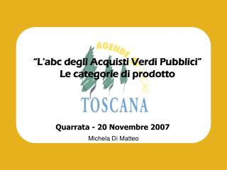 """""""L'abc degli Acquisti Verdi Pubblici"""" Le categorie di prodotto"""