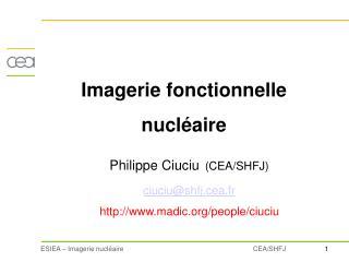 Imagerie fonctionnelle  nucléaire
