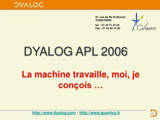 DYALOG APL 2006