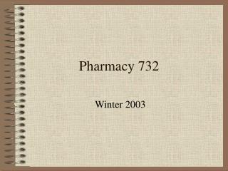 Pharmacy 732
