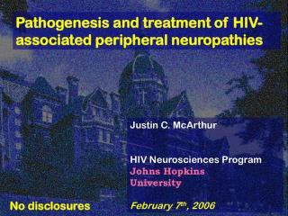 Pathogenesis and treatment of HIV-associated peripheral neuropathies