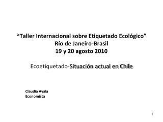Claudia Ayala Economista