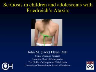 Scoliosis in children and adolescents with Friedreich s Ataxia: