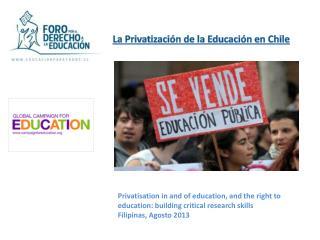 La Privatización de la Educación en Chile