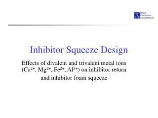 Inhibitor Squeeze Design