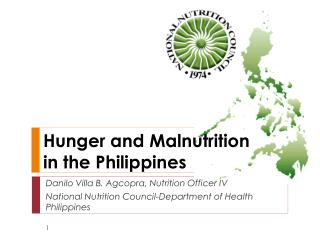 Hunger and Malnutrition  in the Philippines