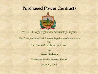 NARUC Energy Regulatory Partnership Program The Georgian National Energy Regulatory Commission and