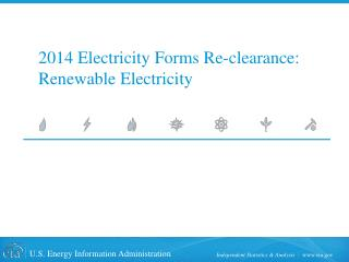 2014 Electricity Forms Re-clearance: Renewable Electricity