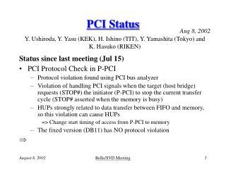 PCI Status