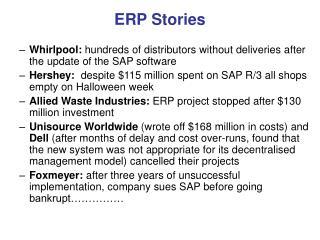 ERP Stories
