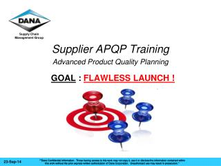 Supplier APQP Training Advanced Product Quality Planning
